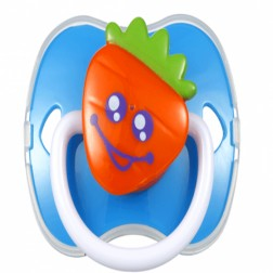 Carrot Pacifier with Cover(Silicone Teat)