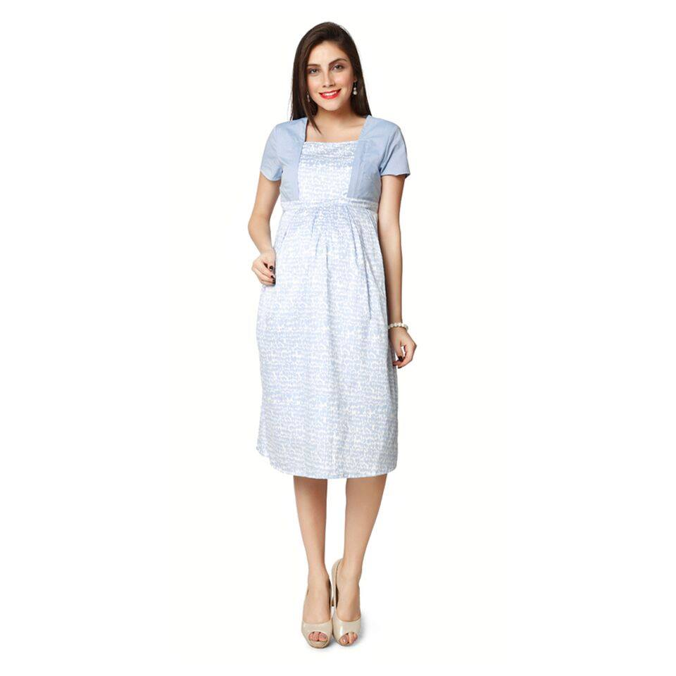 Nine Maternity Nursing Dressin Lobve bird print