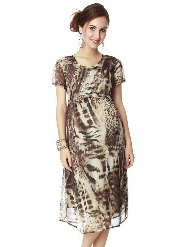 Elegant evening wear dress with shades of brown