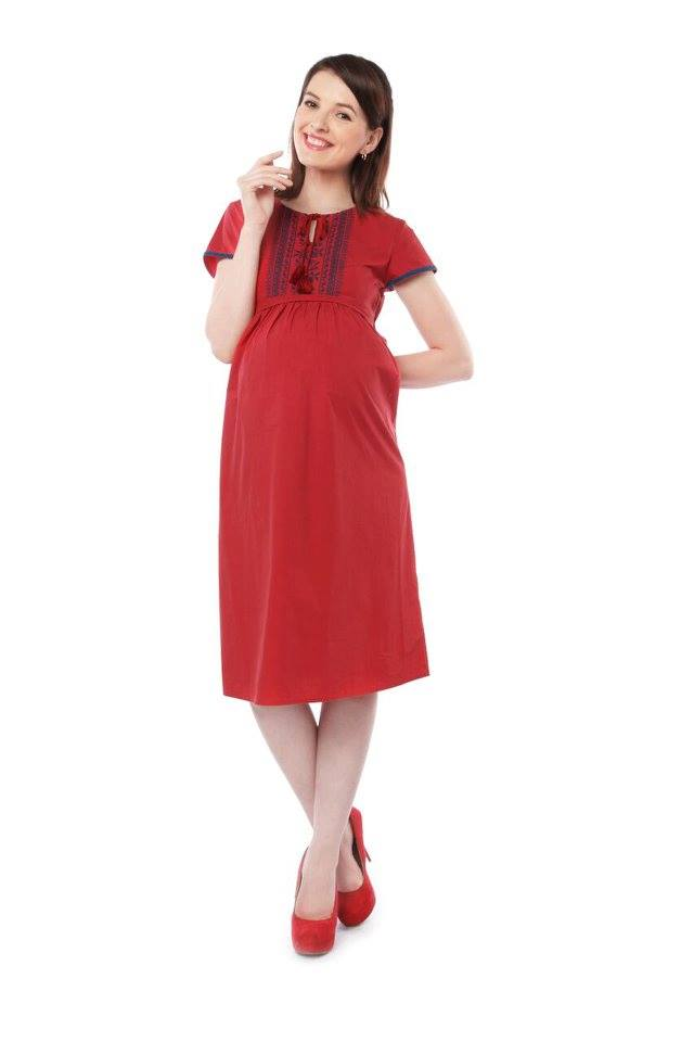 RED NURSING DRESS