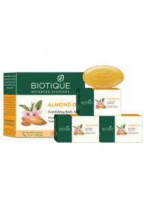 BIO ALMOND SOAP- PACK OF 3